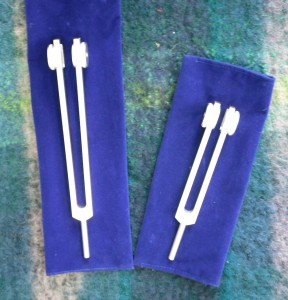 weighted tuning forks